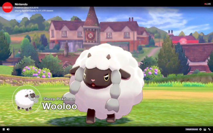 Wooloo in Pokemon Sword and Shield