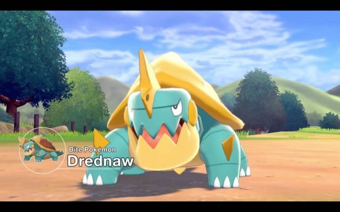 Drednaw in Pokemon Sword and Shield