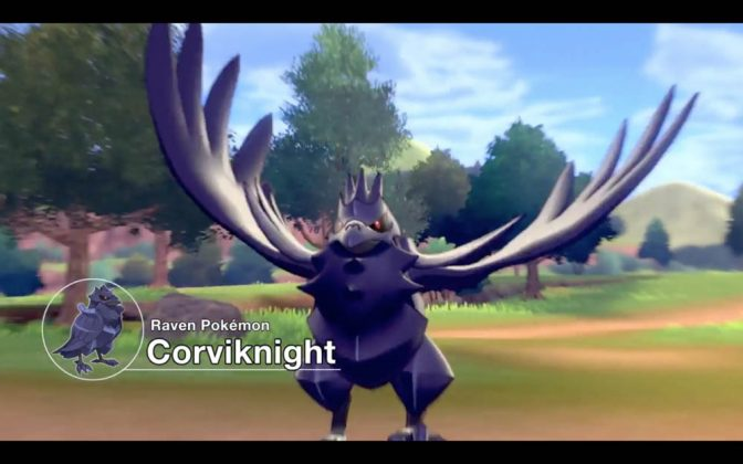 Corviknight in Pokemon Sword and Shield