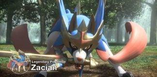 Zacian in Pokemon Sword and Shield