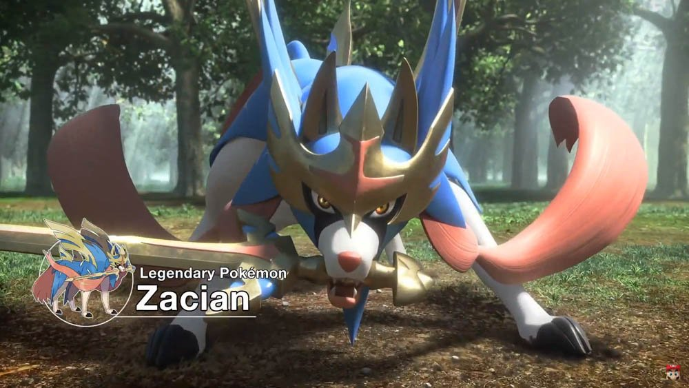 Zacian in Pokemon Sword and Shield