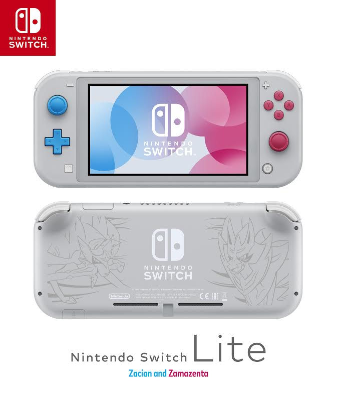 A special version of the Nintendo Switch Lite that features Zacian and Zamazenta