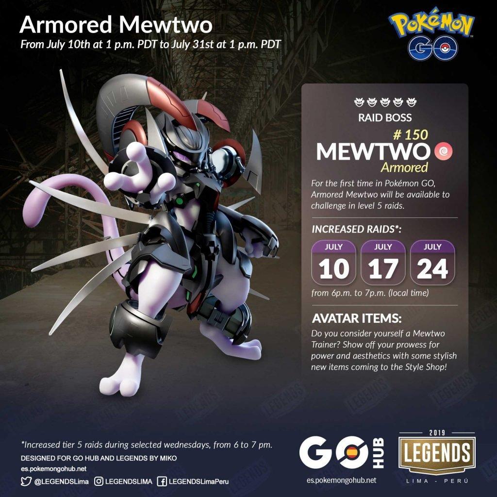裝甲Mewtwo寵物小精靈GO