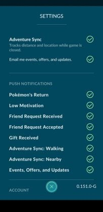 Enable Adventure Sync Nearby Settings