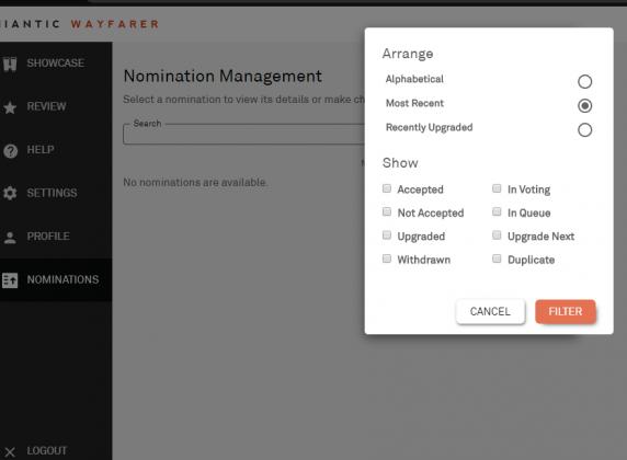 Previous Nominations