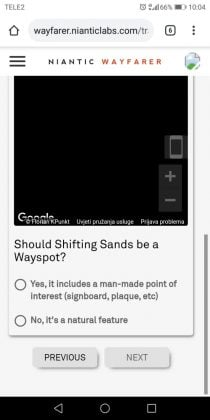Wayfarer Question example