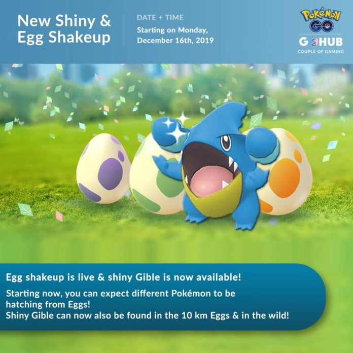 Shiny Gible Released in Pokémon GO