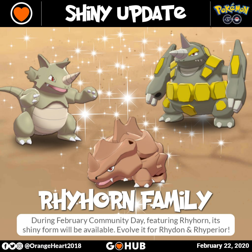 Shiny Ryhorn Family