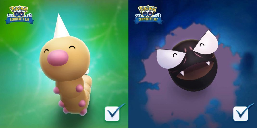 Weedle and Gastly Win June and July Community Day Voting