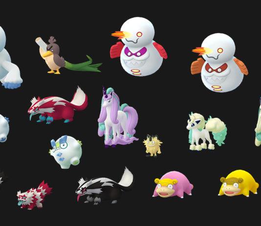 Galar Pokémon in Pokémon GO