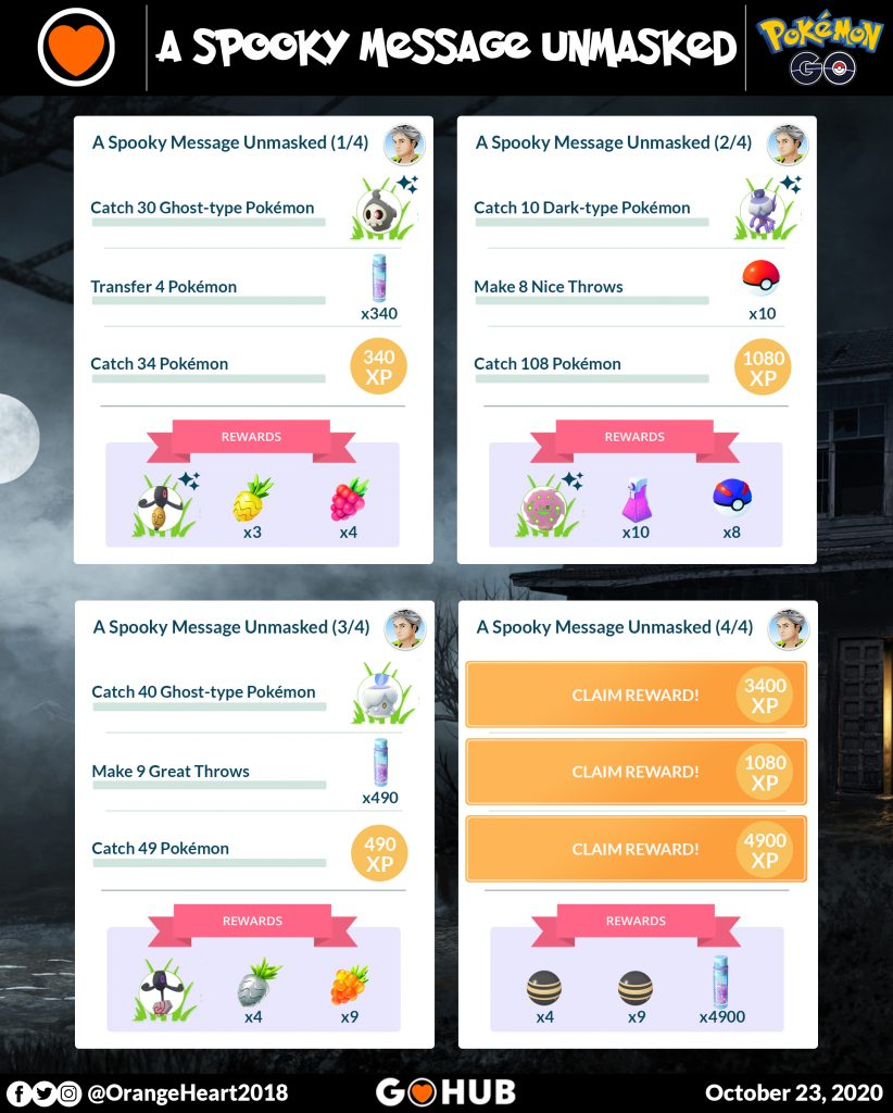 A Spooky Message Unmasked Special Research Tasks and Rewards