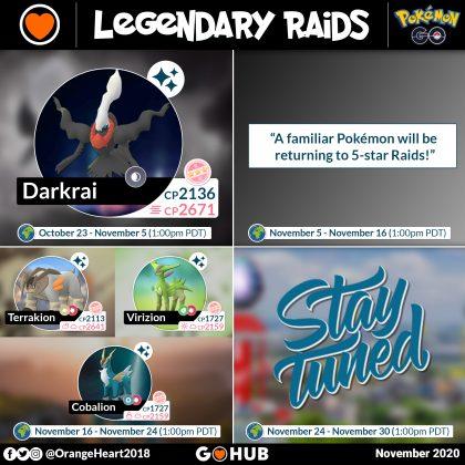 November 2020 Legendary Raids