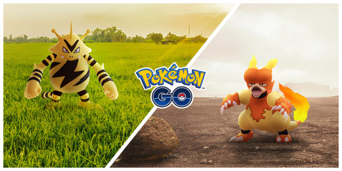 Electabuzz and Magmar will be featured during November's Community Day events!
