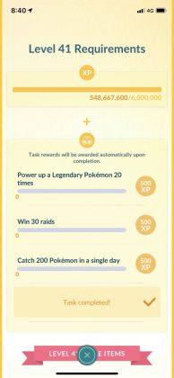 Pokémon GO Level 41 Requirements
