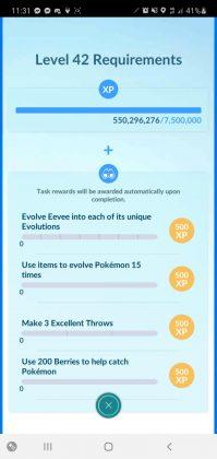 Pokémon GO Level 42 Requirements
