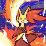Delphox illustration