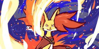 Delphox illustration