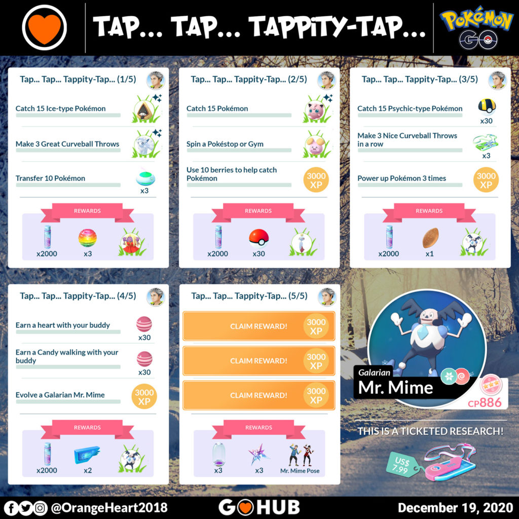 Galarian Mr. Mime Special Research Tasks and Rewards