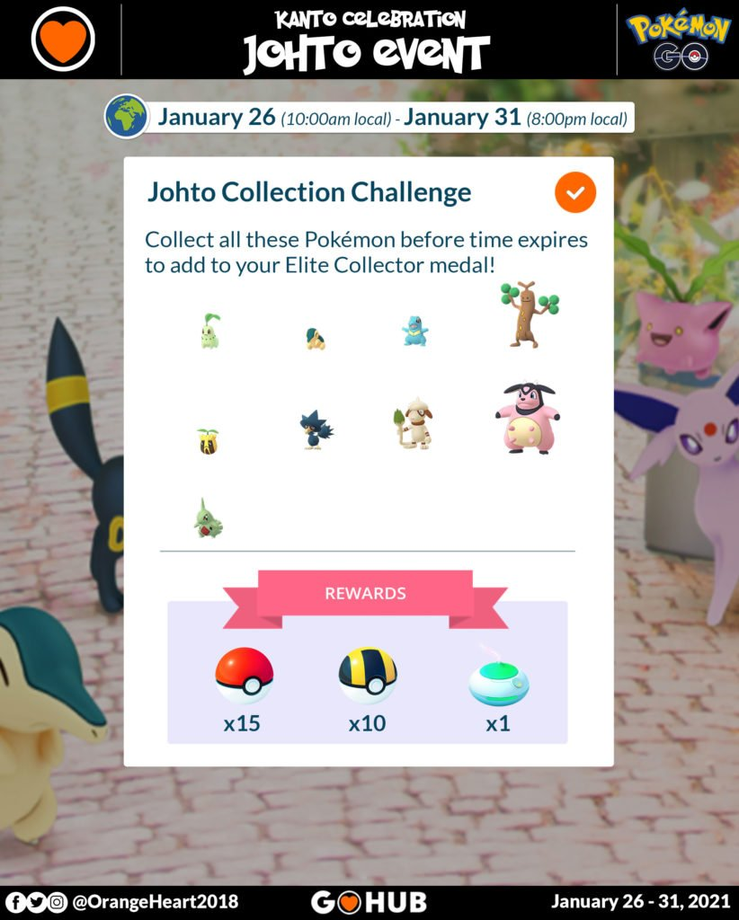 Johto Celebration Event Collection Challenge
