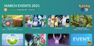 March 2021 Events in Pokémon GO