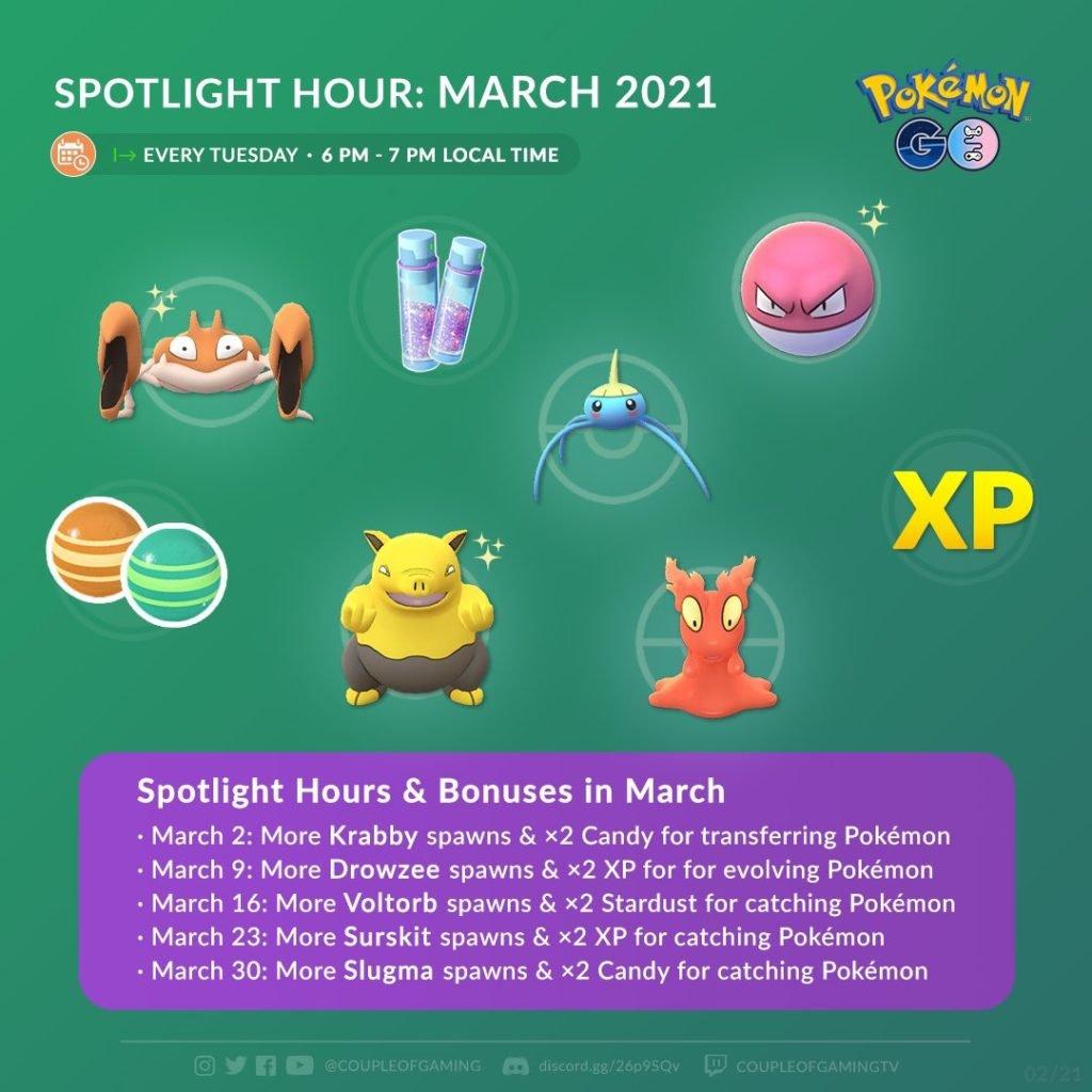 March Spotlight Hours