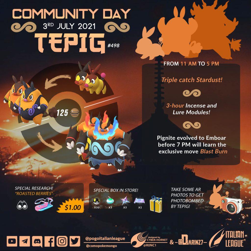 tepig community day pokemon go