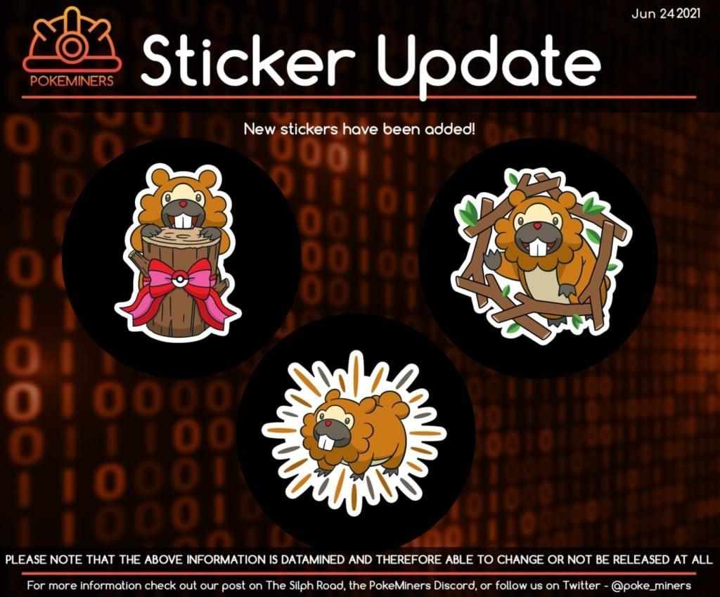 Bidoof stickers