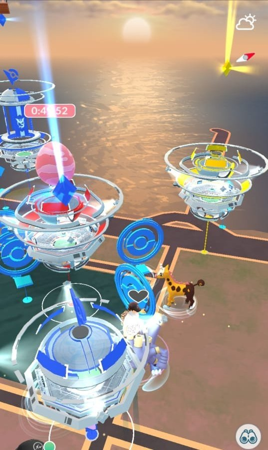 Sea during Real Time Sky Mechanic in Pokémon GO