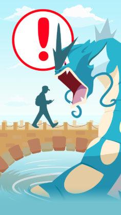 The original Pokémon GO loading screen with Gyarados
