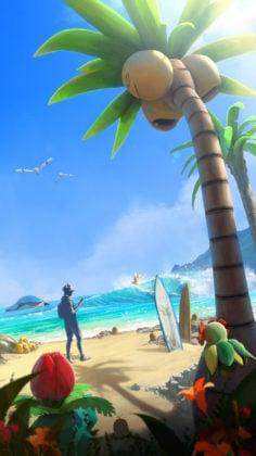 Alola Beach Loading Screen