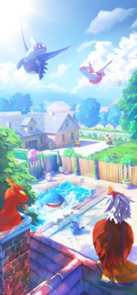 Summer with Latios and Latias loading screen